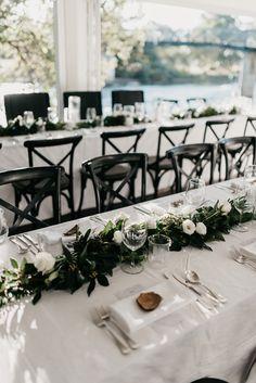 Victoria and Clinton's Coastal Luxe Wedding - Modern Wedding - Formal Wedding Inspiration - Modern Wedding Reception, Luxe Wedding, Wedding Table, Wedding Ceremony, Dream Wedding, Wedding Day, Black Wedding Decor, Modern Wedding Decorations, Formal Wedding Decor