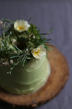 vegan angel food cake with avocado lime frosting 4
