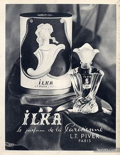 Piver L.T. (Perfumes) 1955 Ilka, André Thevenet