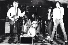Cinecyde at Bookies Club 870, Detroit, Michigan 1978. L to R Jim Olenski, Rodger Wesch, Clay Albertson, Gary Reichel.