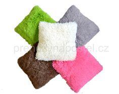 Chlupaté dekorační povlaky na polštář