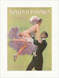Titelseite der Nummer 53 von 1912 Brynolf Wennerberg Simplicissimus 0849 - Billerantik
