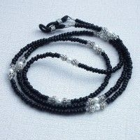 Black Seed Bead Eyeglass Chain - Basic Reading