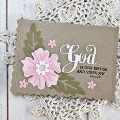 God Is Our Refuge Card by Heather Nichols for Papertrey Ink (January 2017)