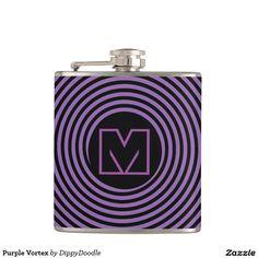 Purple Vortex Personalized Hip Flask
