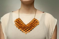 Walnut/Cherry Wooden Amulet Necklace by GiveMeLoveAndWork on Etsy