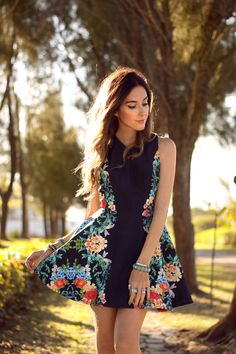 FashionCoolture - 11.09.2015 look du jour floral dress  (5)