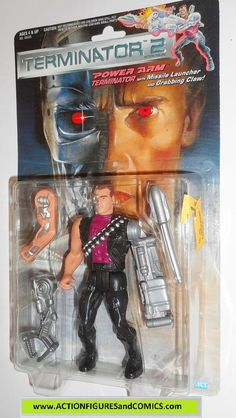 Terminator kenner POWER ARM movie 2 action figures toys moc
