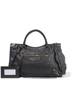 Balenciaga - Classic City Textured-leather Tote - Charcoal - one size
