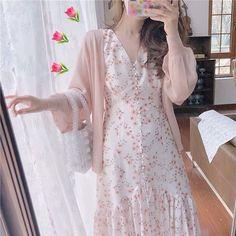 Cute Maternity Outfits, Cute Casual Outfits, Pretty Outfits, Pretty Dresses, Beautiful Dresses, Korean Fashion Trends, Asian Fashion, Moda Ulzzang, Kawaii Dress