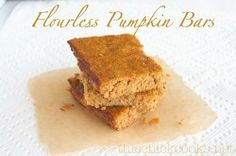 Flourless Pumpkin  Bars