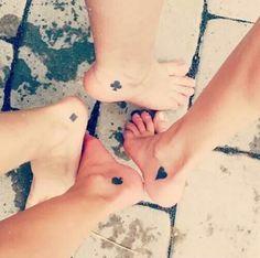 Tatuajes #poker para hermanas o amigas