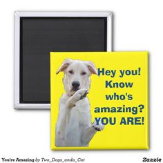 You're Amazing 2 Inch Square Magnet