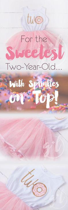 A sweet toddler birthday girl deserves the sweetest tutu dress by Grace and Lucille!