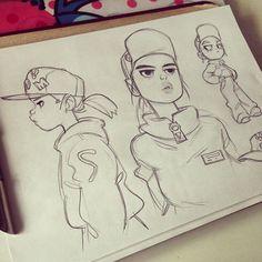 🔧 #sketching #girls Character Sketches, Character Design References, Character Drawing, Character Illustration, Character Concept, Art Sketches, Illustration Art, Illustrations, Concept Art