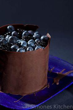 Blue chocolate cake ~
