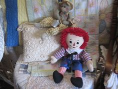 Raggedy Andy Doll Sweet Vintage Handmade  by Daysgonebytreasures