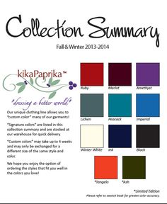 Collection Summary Colors