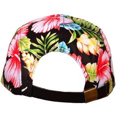 f703cc6aa9e wholesale Cotton Flat Bill 5 Panel Floral Snapback Hats w Leather... ❤