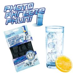 Get cool shots! PhotoPhreezePhun is an ice-cube tray that makes cameras, lens and flash ice cubes for drinks, chocolate-making and more.