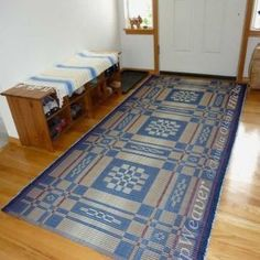 New RepWeaver rug by the front door where it will live.