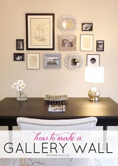 Tips for how to make a gallery wall