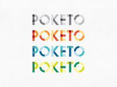 Identity for poketo.com using Futura typeface. Designed by Cargo Collective.