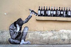 Smarte Street-Art-Malereien bringen Humor in die Straßen von Paris - Charles Leval . netzlutr.de