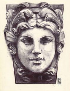 Female statue face Ballpoint Art by Rafik Emil H by rafikemil Statue Tattoo, Statue Of Liberty Tattoo, Ballpoint Pen Art, Tattoo Artwork, Greek Statues, Stone Statues, Pencil Portrait, Pencil Art, Sculpture Art