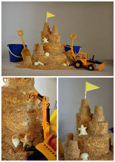 How to Build a Sandcastle Cake Tutorial