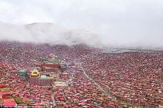 Chinese Government teams previously evicted thousands of monks in 2001, but the site has swelled since...