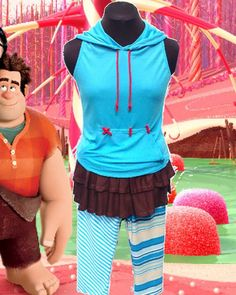 I REALLY want to get this....Vanellope+inspired+complete+running+outfit+by+iGlowRunning+on+Etsy,+$130.00