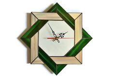 Rústico moderno nudo céltico pared reloj único por ZangerGlass