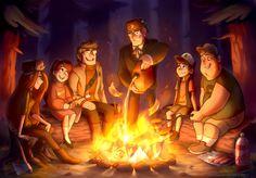 Gravity Falls,фэндомы,Dipper Pines,GF Персонажи,Mabel Pines,Stanford Pines,Wendy Corduroy,Bill Cipher,Stanley Pines,Mistrel-Fox