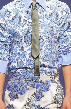 PRINTS, PATTERNS AND DETAILS FROM RECENT MILAN FASHION WEEK (MENSWEAR SPRING/SUMMER 2015) / 6 From top: Etro, MSGM.