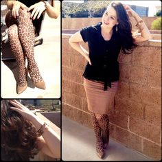 Leopard tights... A classy way to wear...