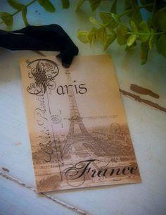 Paris Gift Tags  #Paris #Eiffel Tower #gift tag