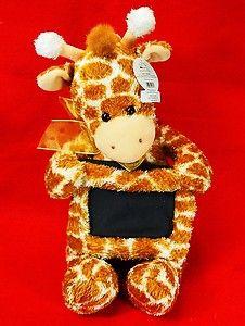 "Giraffe 12"" Gund Plush Memory Picture Frame Stuffed Animal NWT"
