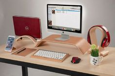 Image result for wooden laptop stand