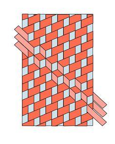 Tumbling Block Bias Tape Weaving - The House That Lars Built Inkle Weaving, Paper Weaving, Weaving Patterns, Skirt Patterns, Coat Patterns, Blouse Patterns, Tumbling Blocks, Creative Textiles, Fabric Strips