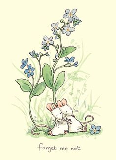 Anita Jeram Art. Forget me Not <3