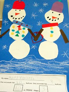 Classroom Freebies Too: Two Simple Snowmen Projects Classroom Art Projects, Classroom Freebies, Art Classroom, Classroom Ideas, Classroom Activities, Preschool Arts And Crafts, Friend Crafts, Kindergarten Math, Math Math