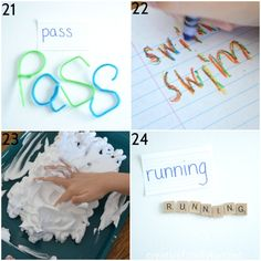 Take the boredom out of spelling practice with one of these fun, hands-on ways to practice spelling words. Spelling has never been so much fun! Spelling Word Practice, Grade Spelling, Spelling Words, Sight Words, Spelling Ideas, Rainbow Writing, Learn To Spell, Play Based Learning, Word Work