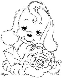 precious moments dog coloring pages - photo#8