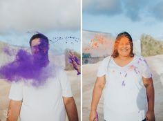 Gold Coast, Byron Bay, Brisbane, and beyond. Studio Portrait Photography, Studio Portraits, Holi Powder, Fox Studios, White Fox, Beach Walk, Byron Bay, Confetti, Engagement Session