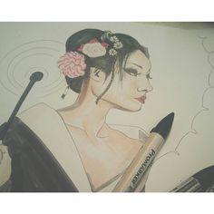 Sketch of a geisha Promarker