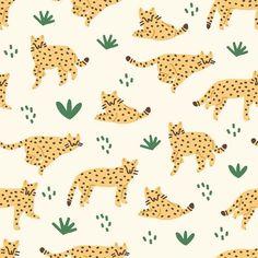 Nature Animals Illustration Behance Ideas For 2019 Kids Patterns, Patterns In Nature, Textures Patterns, Print Patterns, Nature Pattern, Graphic Patterns, Love Illustration, Pattern Illustration, Illustration Artists