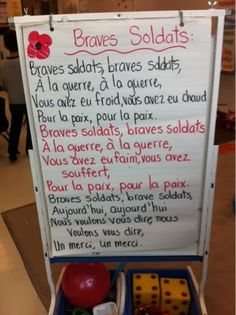 Primary French Immersion Resources: Remembrance Day Spanish Teaching Resources, Teaching Themes, French Resources, Remembrance Day Activities, Remembrance Day Art, French Teacher, Teaching French, French Poems, French Education
