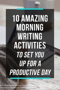 Morning Writing Activities for Entrepreneurs