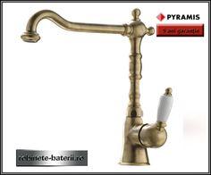 Baterie bucatarie Baroque culoare bronz model retro |